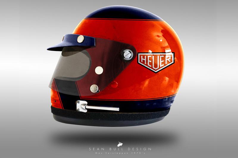 Casco concepto 1970 de Max Verstappen