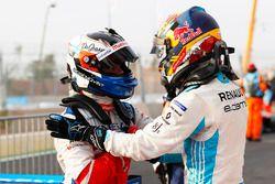Ganador, Felix Rosenqvist, Mahindra Racing, segundo, Sébastien Buemi, Renault e.Dams