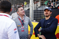 Alejandro Agag, Formula E CEO, with Actor Orlando Bloom on the grid