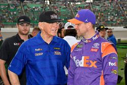 Denny Hamlin, Joe Gibbs Racing, Toyota Camry FedEx Freight and coach Joe Gibbs