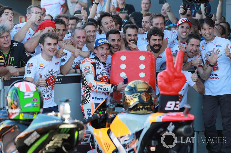 Marc Marquez, Repsol Honda Team dans le Parc Fermé
