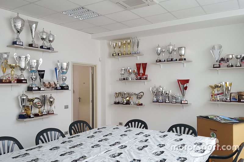 Skoda Italia Motorsport, la sala dei trofei