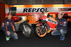 Dani Pedrosa, Repsol Honda Team, Marc Marquez, Repsol Honda Team with the Honda RC181 and the Honda RC213V
