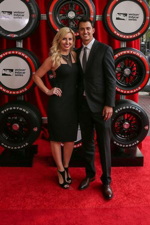 Graham Rahal, Rahal Letterman Lanigan Racing Honda y su esposa Courtney Force