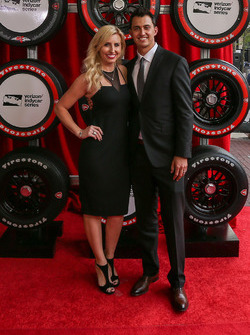Graham Rahal, Rahal Letterman Lanigan Racing Honda and wife Courtney Force