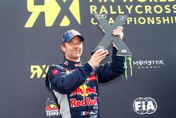 Podium: second place Sébastien Loeb, Team Peugeot Hansen