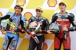 Polesitter Johann Zarco, Ajo Motorsport, second place Franco Morbidelli, Marc VDS, third place, Axel