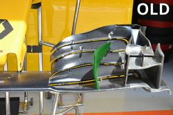 L'ancien aileron avant Renault Sport F1 Team