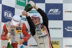 Podium, Rookie, Ralf Aron, Prema Powerteam Dallara F312 - Mercedes-Benz, Joel Eriksson, Motopark Dallara F312 - Volkswagen