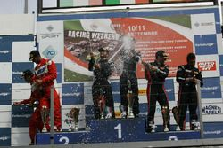 Gara 1 podio GT3, Postiglione-Gagliardini (Imperiale Racing,lamborghini Gallardo GT3 #63), Leo-Cheev