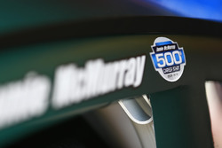 Decal commemorating the 500th start for Jamie McMurray, Chip Ganassi Racing Chevrolet