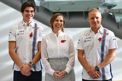 Lance Stroll, Williams; Valtteri Bottas, Williams; Claire Williams, Williams, Stellvertretende Teamc