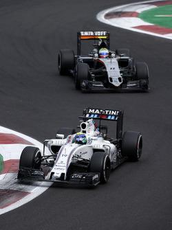 Felipe Massa, Williams FW38, Sergio Perez, Sahara Force India F1 VJM09