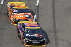Denny Hamlin, Joe Gibbs Racing, Toyota; Kyle Busch, Joe Gibbs Racing, Toyota
