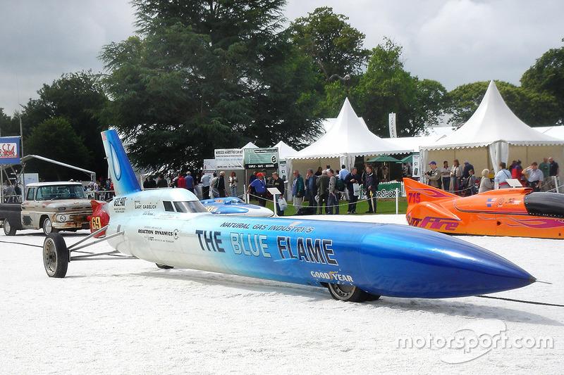 Gary Gabelich'in kullandığı The Blue Flameroket otomobil
