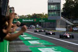 ART Grand Prix celebrate winning the Teams' Championship with Charles Leclerc, ART Grand Prix, Nirei