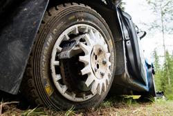 Crash: Eric Camilli, Benjamin Veillas, M-Sport Ford Fiesta WRC