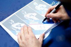 Autograph cards, #66 Ford Chip Ganassi Racing Ford GT: Olivier Pla, Stefan Mücke, Billy Johnson