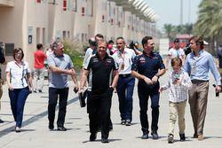 Christian Horner, Red Bull Racing Team Principal and Robert Fernley, Sahara Force India F1 Team Deputy Team Principal