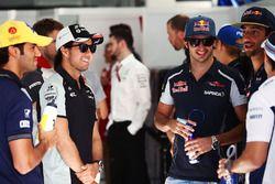 Sergio Perez, Sahara Force India F1 and Carlos Sainz Jr., Scuderia Toro Rosso