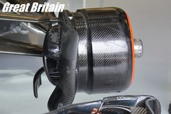 McLaren, brake duct British GP