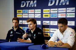 Pressekonferenz: António Félix da Costa, BMW Team Schnitzer, BMW M4 DTM; Lucas Auer, Mercedes-AMG Te