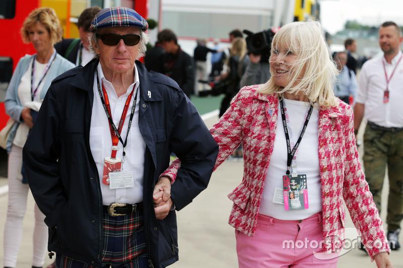 Sir Jackie Stewart, avec sa femme Lady Helen Stewart