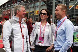 Patrick Allen, Silverstone Director General con Lady Sarra Hoy, and Sir Chris Hoy,
