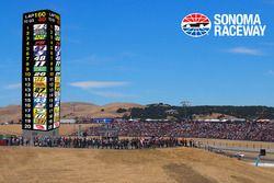 Sonoma Raceway LED scoring pylon