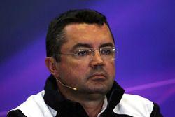 Eric Boullier, McLaren Racing Director en conferencia de prensa de la FIA