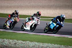 Romano Fenati, SKY Racing Team VR46, KTM; Francesco Bagnaia, Aspar Team Mahindra, Mahindra; Niccolò