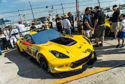 The car of #4 Corvette Racing Chevrolet Corvette C7.R: Oliver Gavin, Tommy Milner, Marcel Fässler