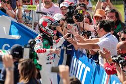 Le vainqueur Tiago Monteiro, Honda Racing Team JAS, Honda Civic WTCC