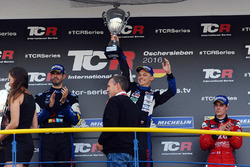 Ganador de la carrera Mato Homola, Seat Leon B3 Racing Ungheria