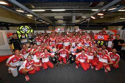 Andrea Iannone et Andrea Dovizioso fêtent leur doublé avec le team Ducati