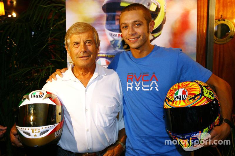 Giacomo Agostini and Valentino Rossi