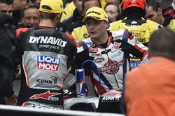 Race winner Jonas Folger, Dynavolt IntactGP with Sam Lowes, Federal Oil Gresini Moto2