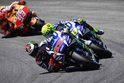 Jorge Lorenzo, Yamaha Factory Racing, Valentino Rossi, Yamaha Factory Racing, und Marc Marquez, Reps