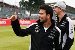Sergio Perez, Sahara Force India F1 avec Nico Hulkenberg, Sahara Force India F1