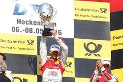 Podium: Winner Edoardo Mortara, Audi Sport Team Abt Sportsline, Audi RS 5 DTM