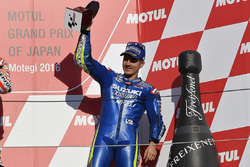 Podium : troisième place pour Maverick Viñales, Team Suzuki Ecstar MotoGP