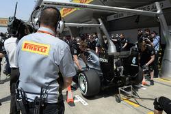 Arrêt au stand de Mercedes AMG F1 Team W07