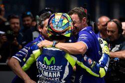 Pol pozisyonu sahibi Valentino Rossi, Yamaha Fabrika Yarış Takımı