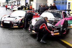 #55 Aust Motorsport, Audi R8 LMS: Xavier Maassen, Lukas Schreier; #44 Aust Motorsport, Audi R8 LMS: