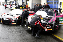 #55 Aust Motorsport, Audi R8 LMS: Xavier Maassen, Lukas Schreier; #44 Aust Motorsport, Audi R8 LMS: Mikaela Åhlin-Kottulinsky, Marco Bonanomi