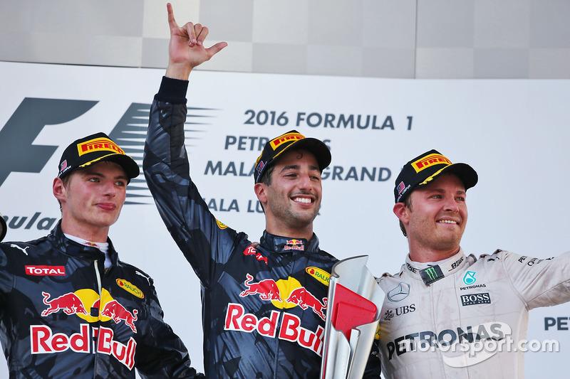 2016 1. Daniel Ricciardo, 2. Max Verstappen 3. Nico Rosberg