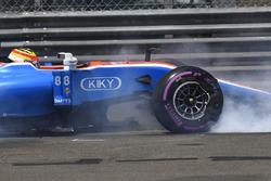 Рио Харьянто, Manor Racing MRT05 - авария