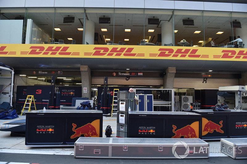 Red Bull Racing freight in pit lane