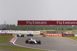 Sergey Sirotkin, Williams FW41 Mercedes, Charles Leclerc, Sauber C37 Ferrari, and Brendon Hartley, Toro Rosso STR13 Honda