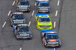 Christopher Bell, Kyle Busch Motorsports Toyota and Ryan Truex, Hattori Racing Enterprises Toyota